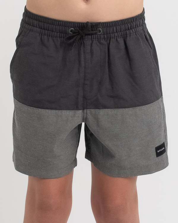 Rip Curl Boys' Black Volley Shorts for Mens image number null