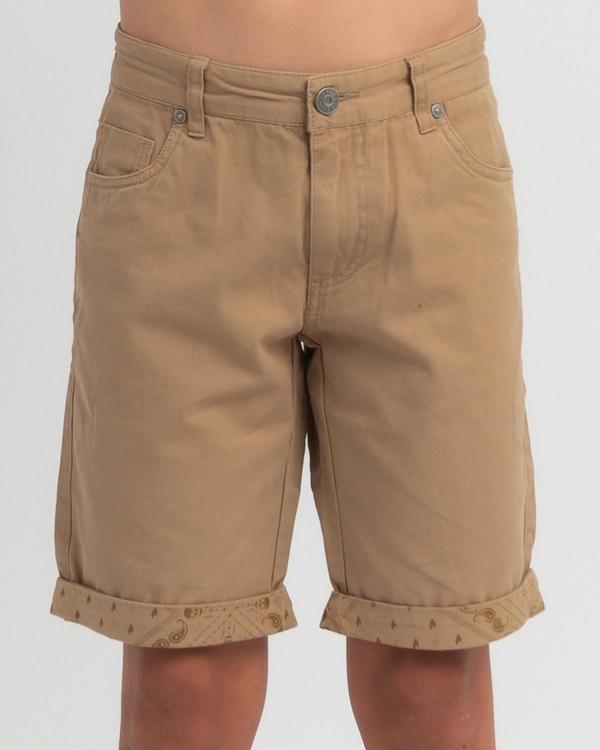 Lucid Boys' Adorned Walk Shorts for Mens image number null