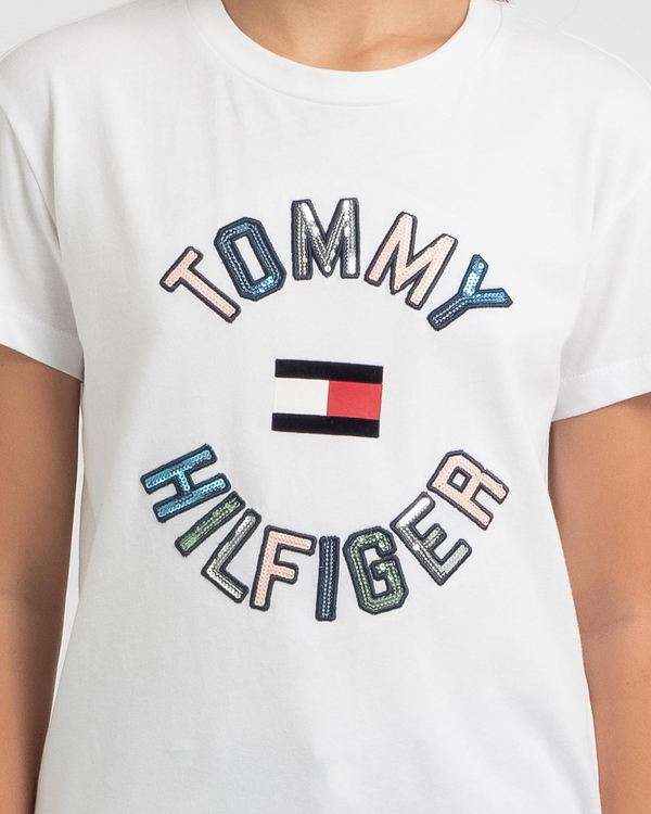 Tommy Hilfiger Girls' Sequins T-Shirt for Womens image number null