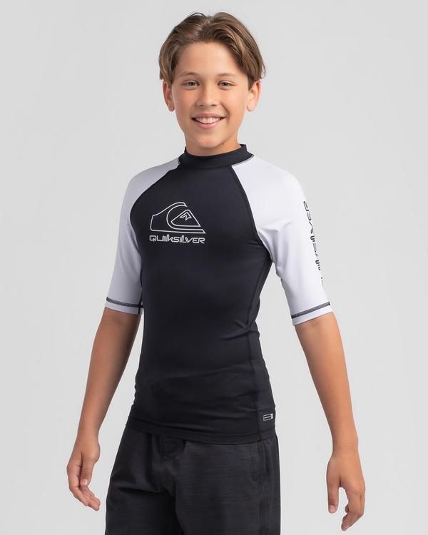 Quiksilver Boys' On Tour Short Sleeve Rash Vest for Mens image number null